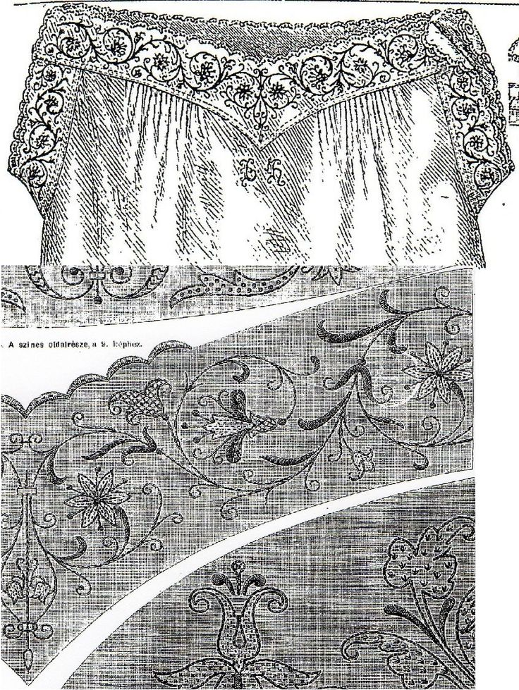Fine Irish linen chemise with colorful embroidery from Budapesti Bazár 1879