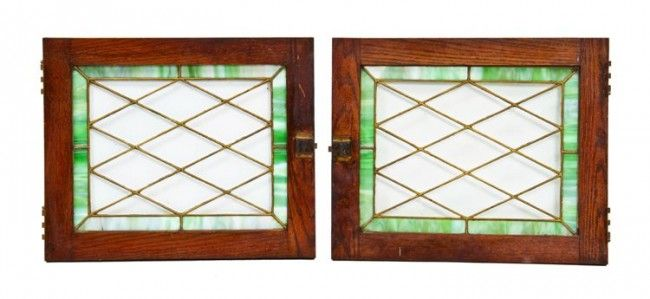 Stained Glass Diamond | ... oak wood leaded glass cabinet doors with diamond shaped pattern
