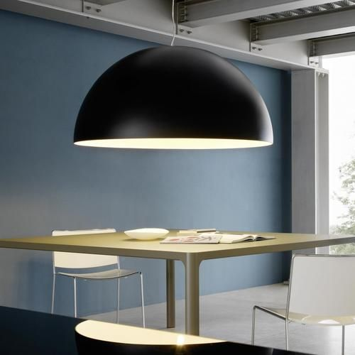 Suspension lamp. Frame and canopy in chromed metal.
