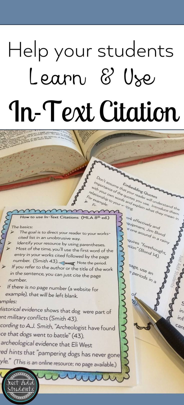 "This ""cheat sheet"" will help your students write research essays that follow the MLA requirements for  citing sources.  Great writing tool for middle school and high school!"
