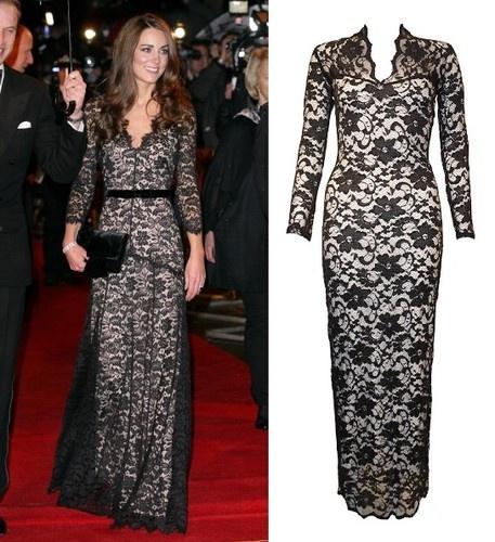 Black and cream lace maxi dress