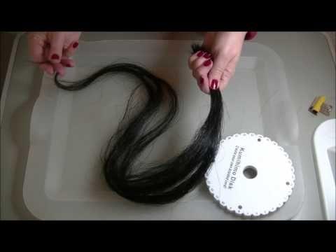 DIY horsehair bracelet square braid tutorial - YouTube
