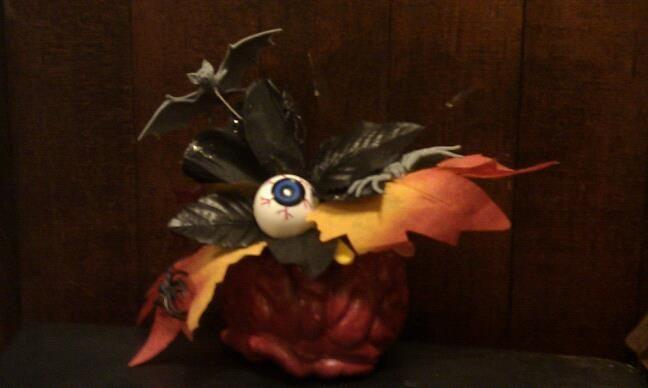 Halloween Fascinator from Dollarama supplies