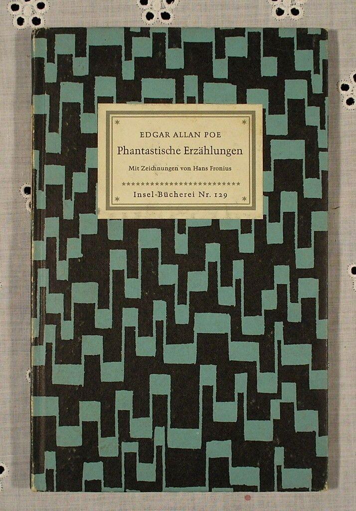 """""""Phantastische Erzählungen"""", Autor: Edgar Allan Poe, Insel-Bücherei Nr. 129, edition: 1959"""