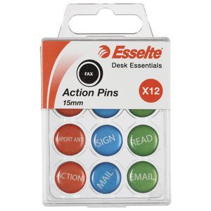 Esselte Novelty Pins Action Pk/12 | Officeworks
