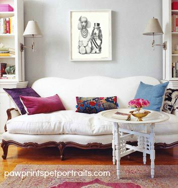 Paw Prints Pet Portraits Fit In Any Interior, These Are Paschal And Oliver  In A