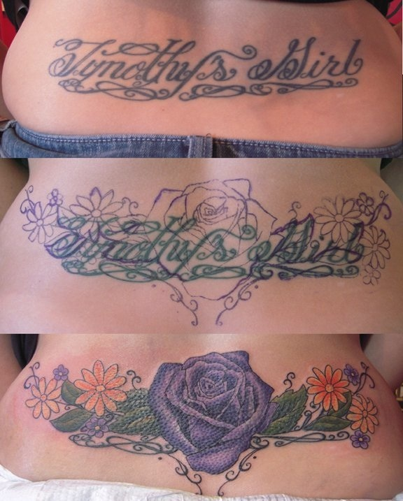 Tramp Stamp Cover Up Ideas : tramp, stamp, cover, ideas, Elise, Inked, Cover, Tattoo,, Tattoos, Women,