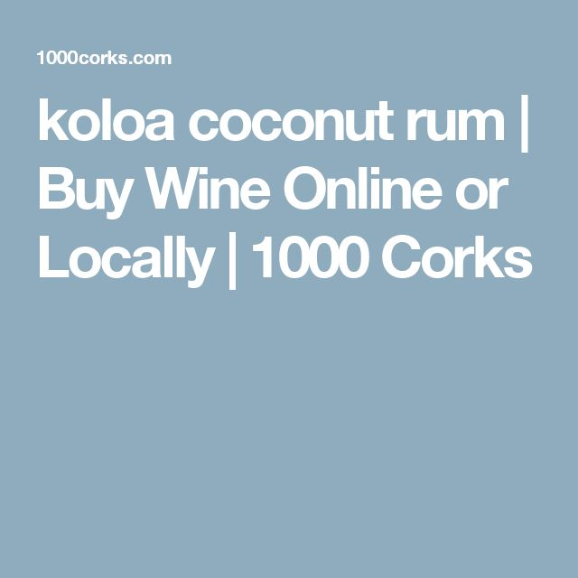 koloa coconut rum | Buy Wine Online or Locally | 1000 Corks