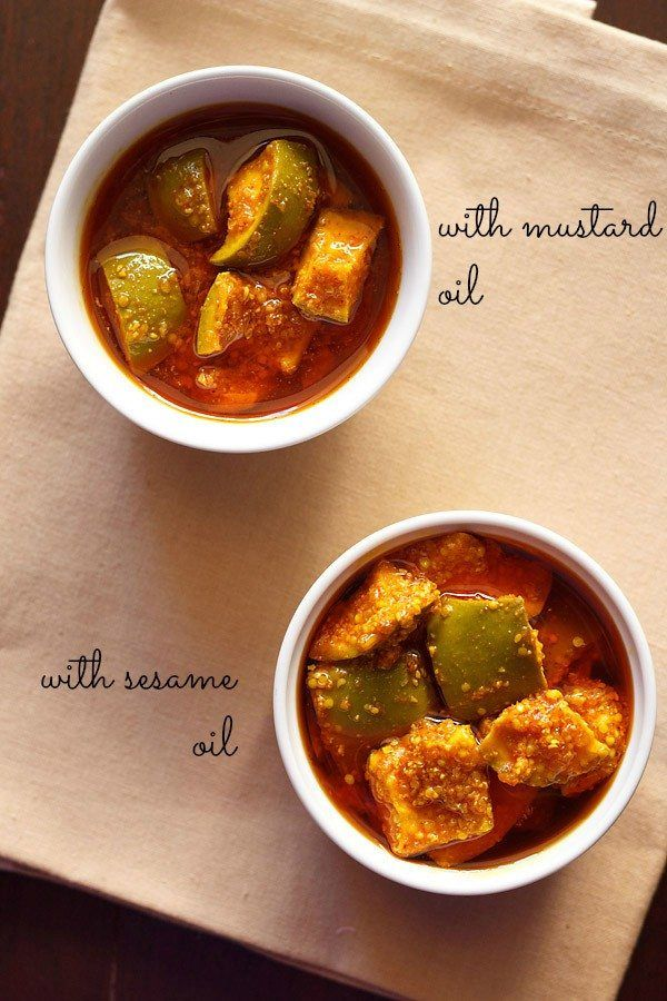 collection of 10 pickles recipes. pickles are also called as achar in hindi. pickle is in intrinsic and very important part of indian cuisine. without pickle on side, an essential part will be missing from an indian thali.