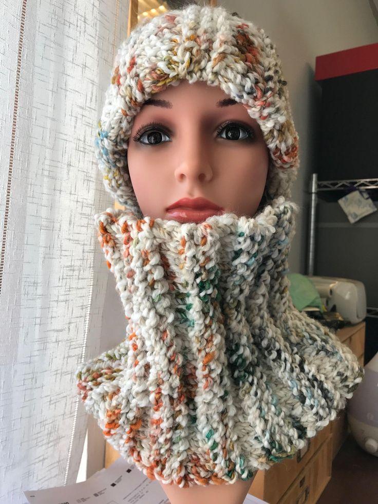 Sono felice di condividere l'ultimo arrivato nel mio negozio #etsy: Cappello & scaldacollo 'Canazei' http://etsy.me/2AYsK3r #accessori #cappelli #bianco #arancione #collo #cappello #lana #wool #handmade