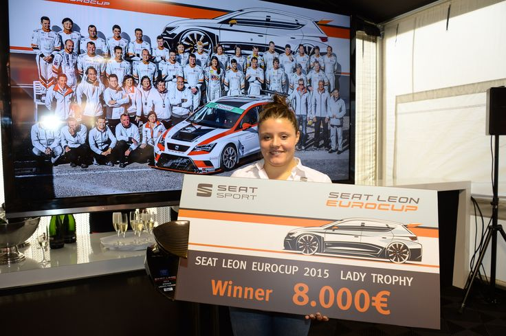 SEAT Leon Eurocup 2015. Prize giving ceremony.
