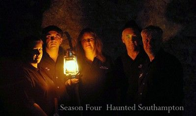 The Haunted Southampton Team. Investigating the paranormal. Taken within the medieval vaults of Southampton England.