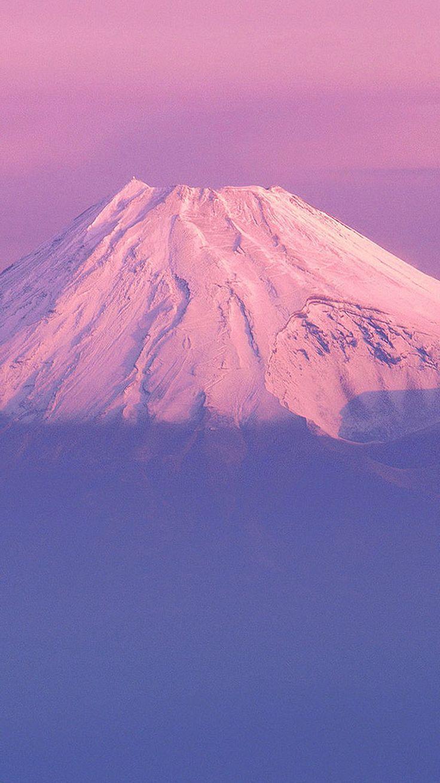 Download fujiyama japanese mountain purple sky iphone 6 - Japanese wallpaper phone ...