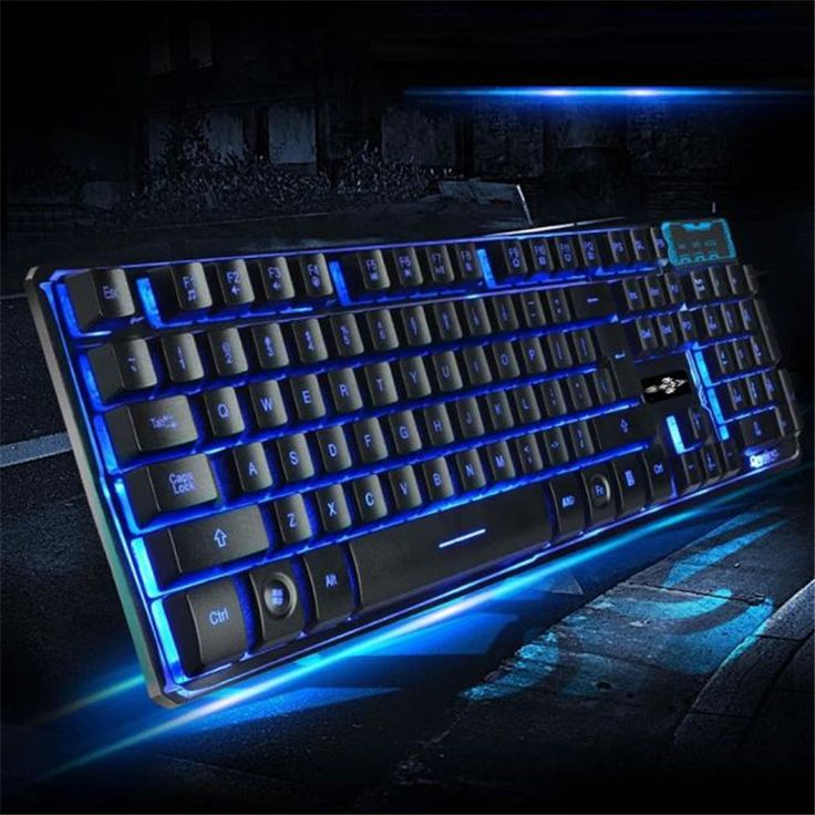 Three Colors Backlight Multimedia Ergonomic Wired Gaming Keyboard Game Lovers High-end Keyboards Device with 104 Keys Jun28 #Affiliate