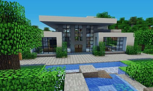 Nice minecraft modern style house minecraft builds for Big modern houses on minecraft