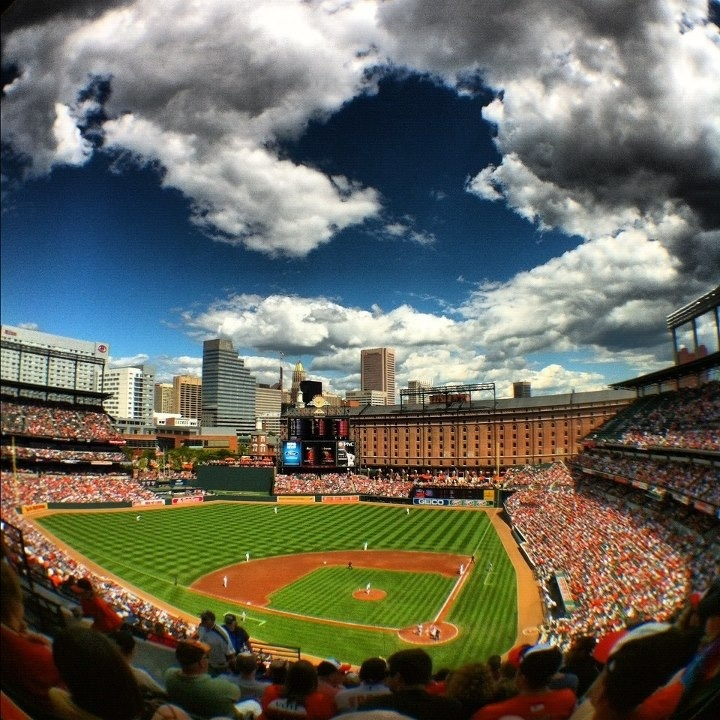 Camden Yards. Baltimore Maryland.  Home of the Baltimore Orioles (MLB) I miss going to games.