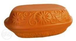 Garnek Rzymski - 4l, prostokątny - ceramika nieszkliwiona- Gdańsk