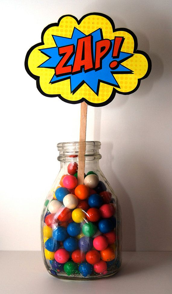 Boom Pow Zap Bam Pop Table/Cupcake Tower by BsquaredDesign