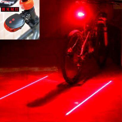 Велосипед сзади световых аксессуары велосипедные фонари лазерной велосипед луч mtb велосипед хвост инфракрасный красный свет люмен фонарь