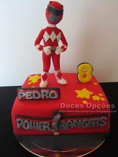 Doces Opções: Bolo de aniversário Power Rangers