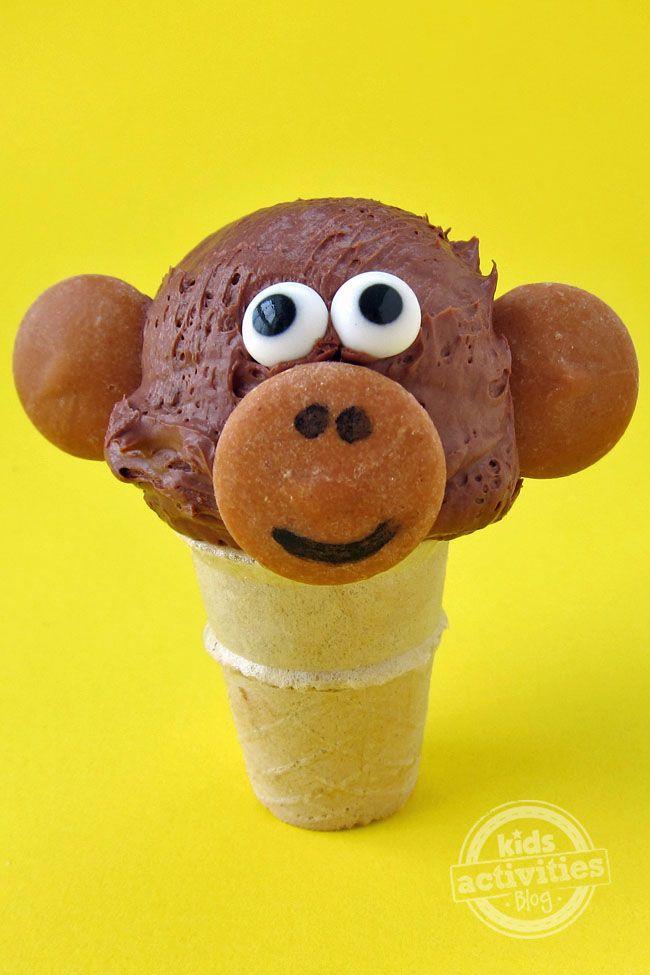 Mini Ice Cream Cone Monkeys