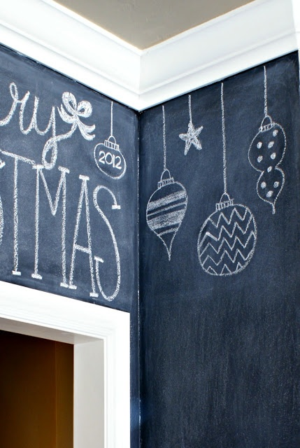For the Fridg and dishwasher:))))))))Christmas Chalkboard Wall