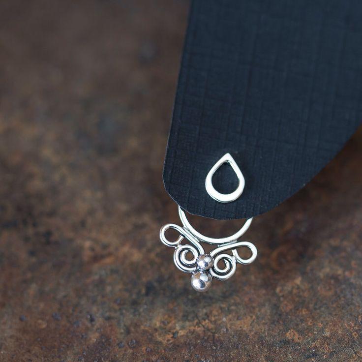 Handcrafted silver ear jacket earrings, front and back earring, solid sterling silver butterfly earring, unique artisan earrings, ear cuff by CookOnStrike on Etsy https://www.etsy.com/listing/227961083/handcrafted-silver-ear-jacket-earrings