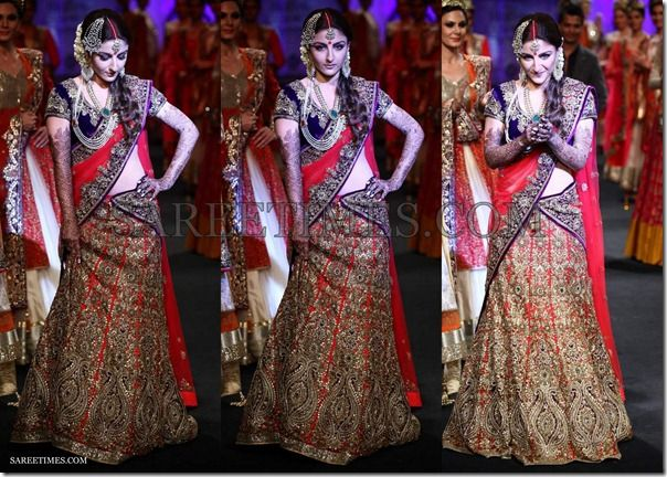 soha ali khan in beautiful designer lehanga,glittering work ob border