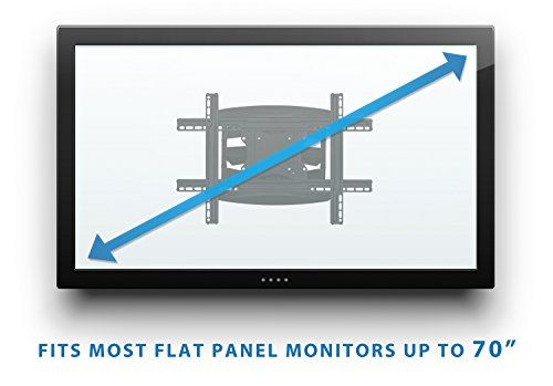 Mount-It! Full Motion Articulating Wall Mount for 40inch to 70 inch TVs Flat Screens LCD, LED, OLED 4K and 3D, VESA Max 600×400, 110 Lbs Weight Capacity (MI-344)