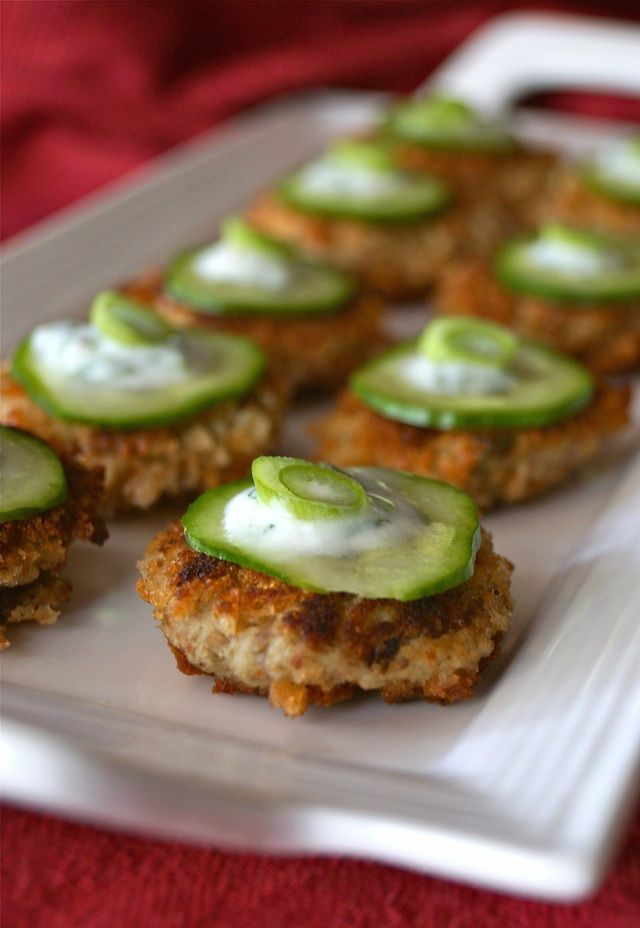 Spicy Eggplant-Almond Cakes Recipe with Cilantro-Lemon Yogurt - Crispy on the outside, soft in the center, these super flavorful, spicy and earthy eggplant cakes are an incredibly delicious, crowd-pleasing hors d'oeuvre or appetizer.