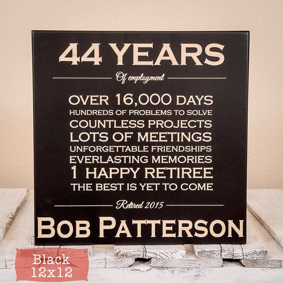 Personalized Retirement Gift  Retirement Gifts  Retirement