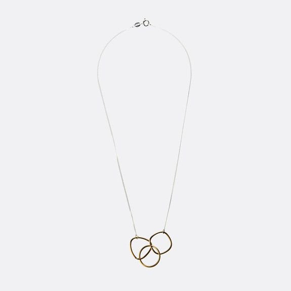 Meraki - Geometric Shape Brass Necklace