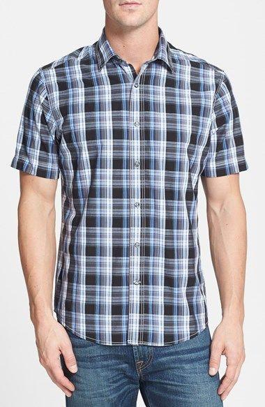 James Campbell 'Monitiel Plaid' Short Sleeve Sport Shirt on shopstyle.com
