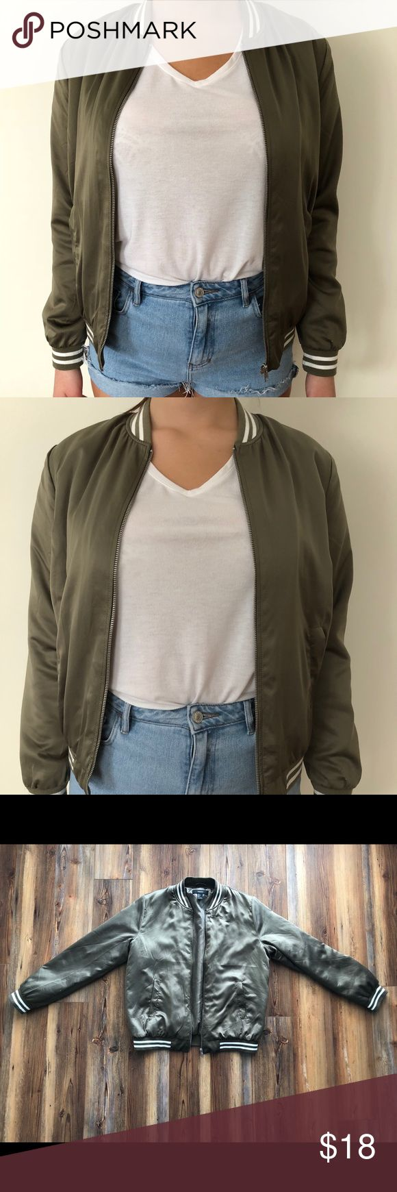 NWOT Forever 21 army green bomber jacket Boutique Army