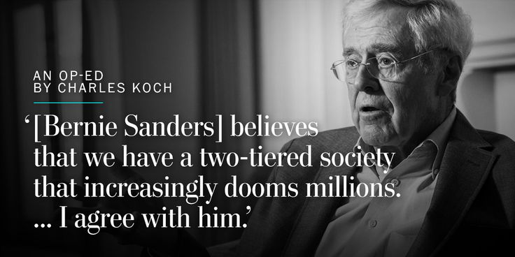 Charles Koch: This is the one issue where Bernie Sanders is right