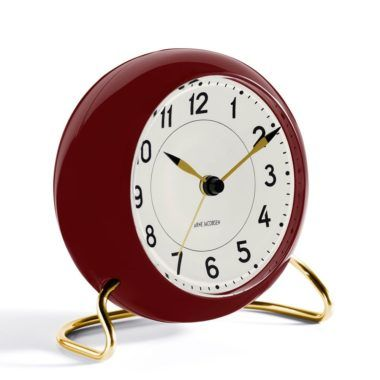 arne-jacobsen-station-alarm-clock-red