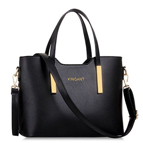 Stunning Women s Tote Bag With Metallic and Solid Color Design