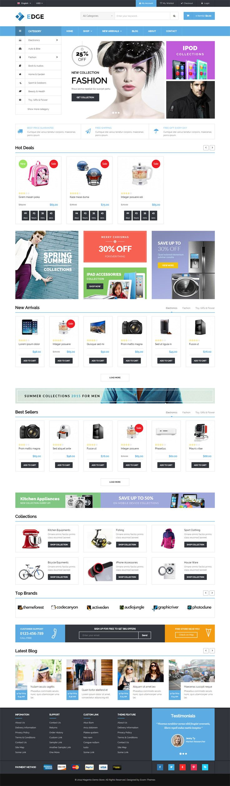 #Magento is a popular open source e-commerce software platform that has a modular architecture and is extremely flexible. It comes with a number of online shop maintenance capabilities. It is also simple to configure and easy to customize. And despite the fact that it was launched just last year, it has been gaining more and more popularity among Web designers and e-business owners.#themes