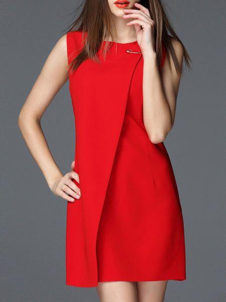 Paneled Pin Mini Dress