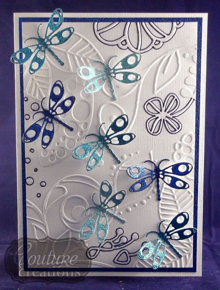 Couture Creations: A Flight of Dragonflies by Tracey Cooley | #couturecreationsaus #cards #embossingfolders #decorativedies #dragonflies