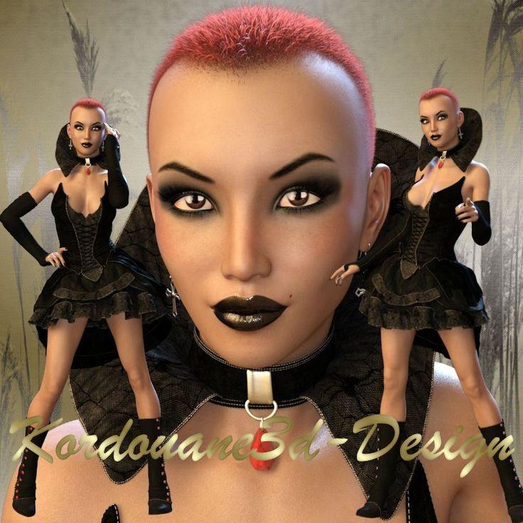 Ursula (tube femme gothique fantasy)