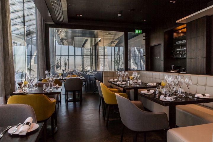 Sky Pod Bar, Darwin Brasserie and Fenchurch Seafood Bar & Grill by o1 Creative, London – UK » Retail Design Blog