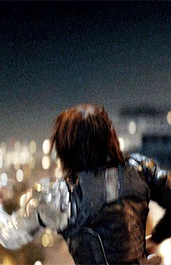 The Winter Soldier catching Steve's shield. I bet Steve was a tad bit surprised XD