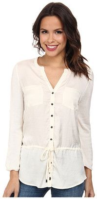 Calvin Klein Henley Tunic Sweater - Shop for women's Sweater - Birch Sweater