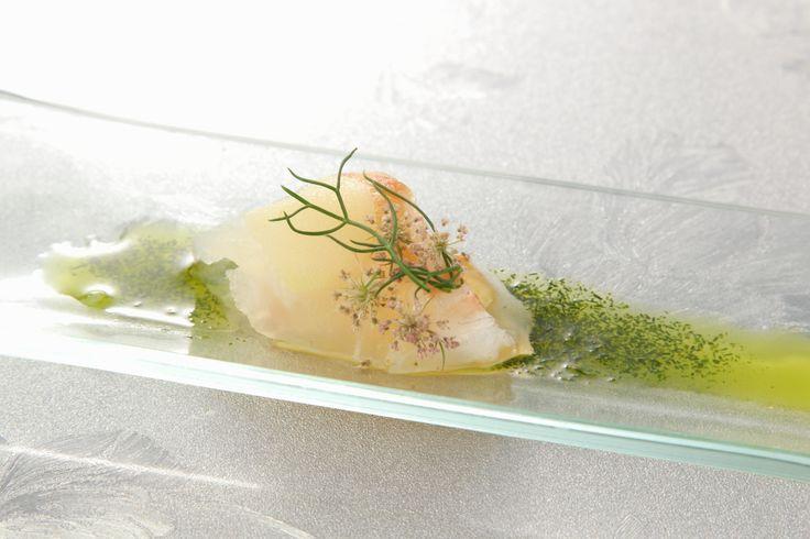 〈前菜小皿〉桃と新生姜をあわせた鯛のカルパッチョ