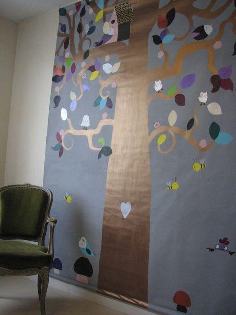 fresque murale déco chambre d'enfants Blog de Miss SaCha : création, couture, bijoux, peintures ... Made in Grenoble