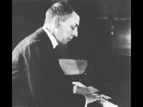 """Rachmaninoff, """"Rhapsody on a Theme of Paganini in A minor for piano and orchestra, op. 43,"""" played by composer.  Leopold Stokowski conducts."""