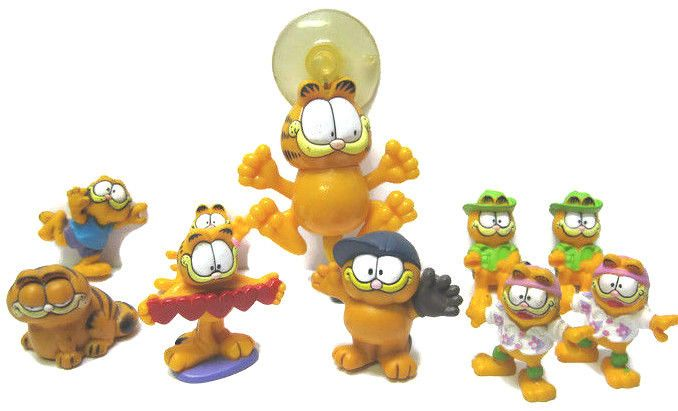 LOT OF 10 - GARFIELD CAT Window Stick up,Vintage 1980s, assorted sizes types