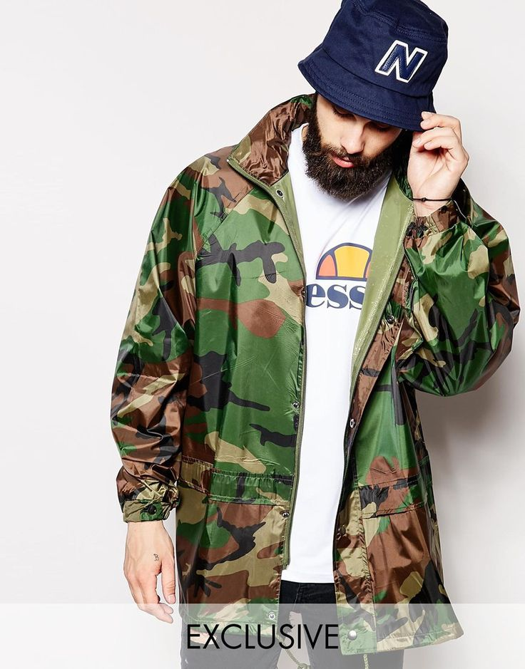 Reclaimed Vintage Camo Festival Anorak Jacket...Anybody who knows me knows i love came. #Navy4Life