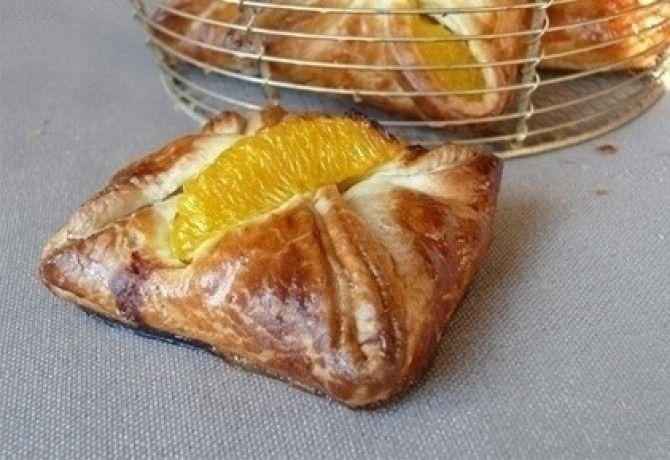 Narancslében marinált csirkemell tésztabatyuban